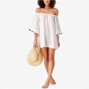 Studio Anne Cole Off Shoulder Swim Coverup Dress
